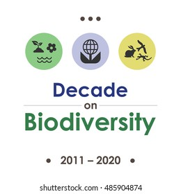 vector illustration for  Decade on Biodiversity