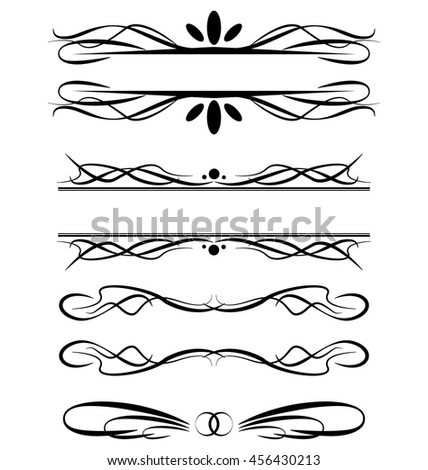 Vector Illustration Decorative Border Frame Set Stock Vector ...