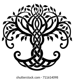 Vector illustration, decorative Celtic tree of life