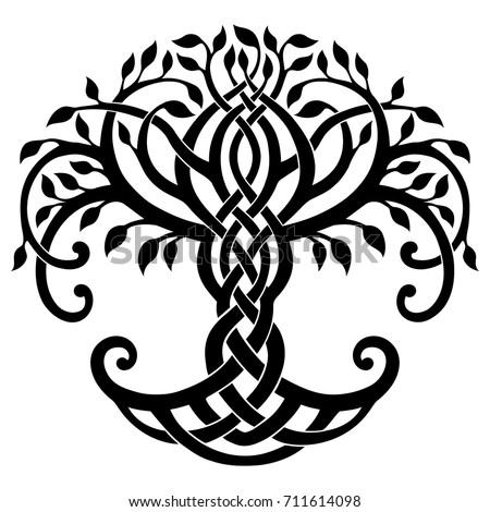 Vector Illustration Decorative Celtic Tree Life Stock