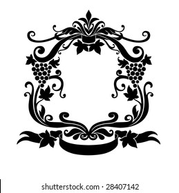 Vector Illustration of Decorative frame with floral ornament