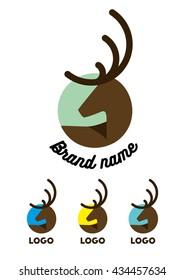 Vector illustration. Deer icon logotype. Image for branding. Symbol