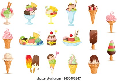 A vector illustration of delicious ice cream