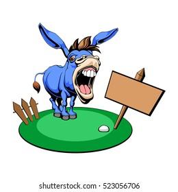 Vector illustration of a Democrat Donkey