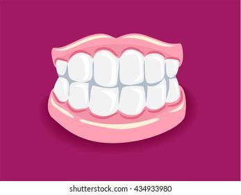 Vector Illustration of Dentures