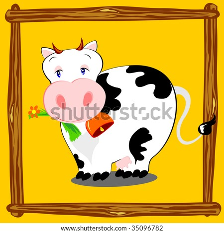 Vector Illustration Depicts Cow Cartoon Style Stock Vector Royalty