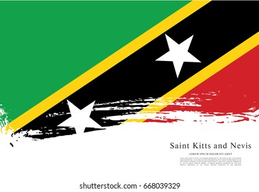 Vector illustration design of the Federation of Saint Kitts and Nevis flag