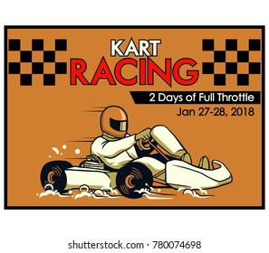 Vector illustration design for go kart poster