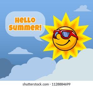 Vector illustration design for summer season greeting