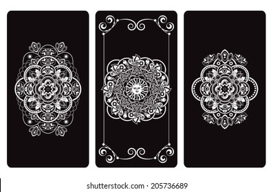 Vector illustration  design for Tarot cards. Vector template for playing cards, tarot, postcard, print