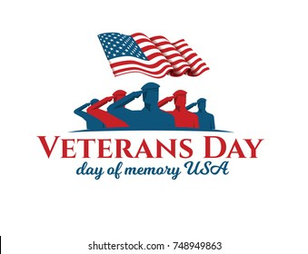 vector illustration. design template for the holiday United States of America Veterans Day on November 11 we will remember and never will forget, graphic design elements for posters and flyers.