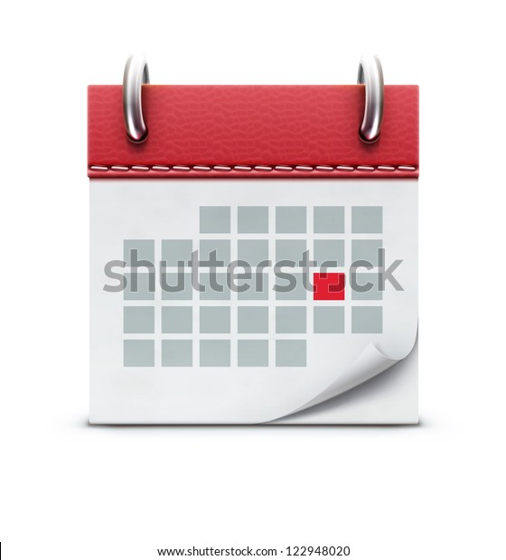 Vector illustration of detailed beautiful calendar icon