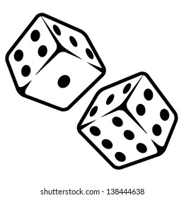 Vector illustration of dices