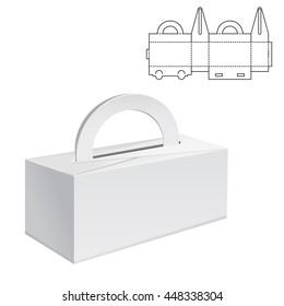 Vector Illustration of Diecut Craft Box