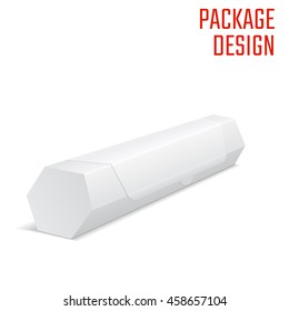 Vector Illustration of Diecut Craft Box for Design.  Retail Folding package Template