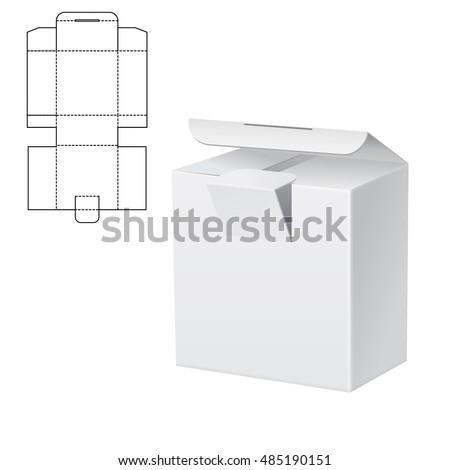 Vector Illustration Diecut Craft Box Design Stock Vector Royalty