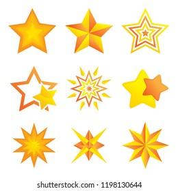 A vector illustration of Different Stars Design