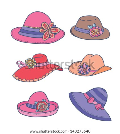a723bf2cad640 Vector Illustration Different Types Summer Women Stock Vector ...