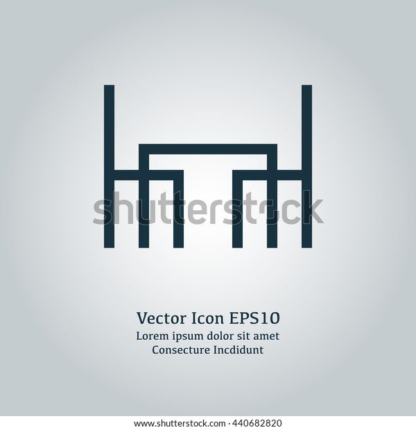 Vector illustration of dining room icon
