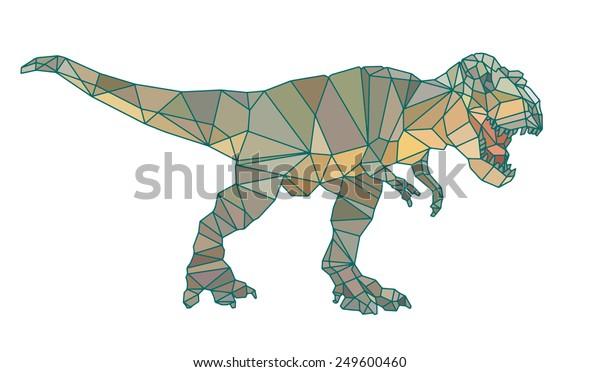 Vector De Stock Libre De Regalias Sobre Vectorial Ilustracion Dinosaurio Abstracto Geometrico Arte De249600460 'lagartos terribles') son un grupo de saurópsidos que aparecieron durante el período triásico. https www shutterstock com es image vector vector illustration dinosaur abstract geometric poly 249600460