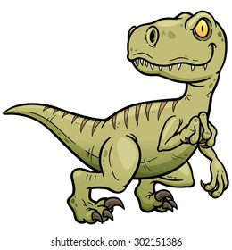 Vector illustration of Dinosaurs cartoon