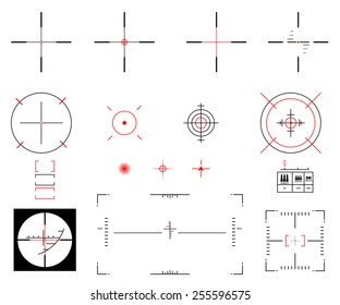 Vector illustration. A diverse set of sights.