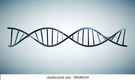 Vector illustration of a DNA model