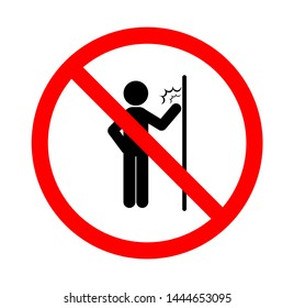 Vector illustration of Do not disturb, on a white background