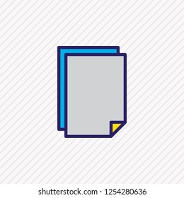 Vector illustration of document icon colored line. Beautiful page element also can be used as copy icon element.