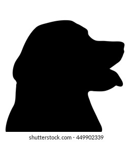 Vector illustration of dog on a white background.