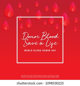 Vector illustration of Donate blood for World blood donor day-June 14.