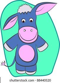 A vector illustration of a donkey.