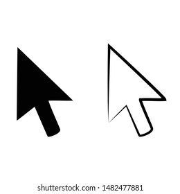 vector illustration drawing for computer mouse click pointer cursor arrow icon