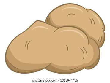 vector illustration of drawn cartoon potatoes