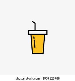 Vector illustration of drink cup icon