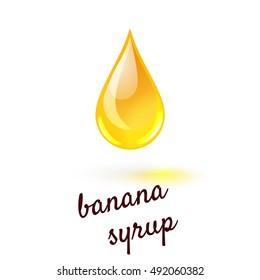 Vector illustration of drop of liquid sweet banana syrup