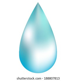 Vector illustration of A drop of water on a white background