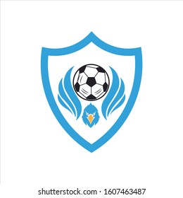 Vector illustration of an eagle crest to be used as a mascot or logo for soccer clubs, teams, schools, etc