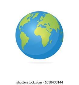 Vector Illustration : Earth Globes