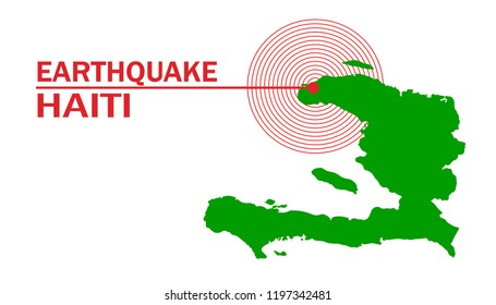 Vector illustration of Earthquake hits Haiti