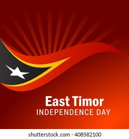 Vector illustration of East Timor Independence day.