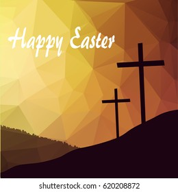 Vector illustration of Easter bunny with Easter egg for Easter Sunday with beautiful typography.
