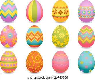 Vector illustration - easter egg icons