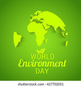 Vector illustration, eco poster,eco banner or eco card for world environment day.