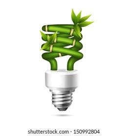 Vector illustration of an ecological energy saving bulb