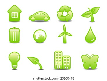 Vector illustration of ecological signs .You can use it for your website, application or presentation