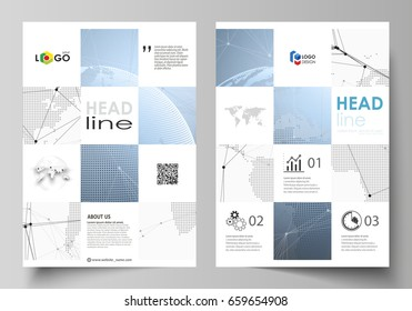 business templates brochure flyer annual report stock vector