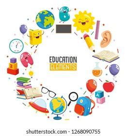 Vector Illustration Of Education Concept Design