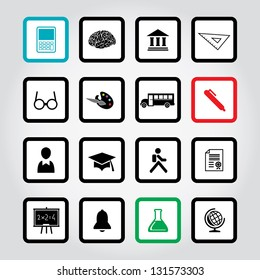 Vector illustration of education icons.