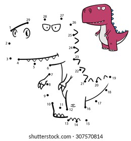 Vector Illustration of Education Numbers game Dinosaur